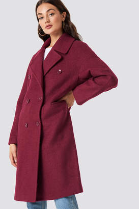 Na Kd Trend Oversized Double Breasted Coat Black