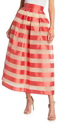 Lela Rose Striped Mikado Full Skirt