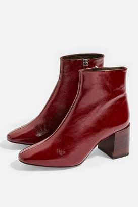 Topshop Womens Marlene Leather Mid Heels - Red