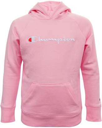 Champion Girl's Logo Embroidered Cotton-Blend Hoodie
