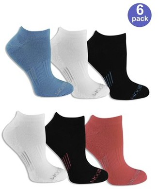 Fruit of the Loom Women's Everyday Active No Show Socks 6 Pack
