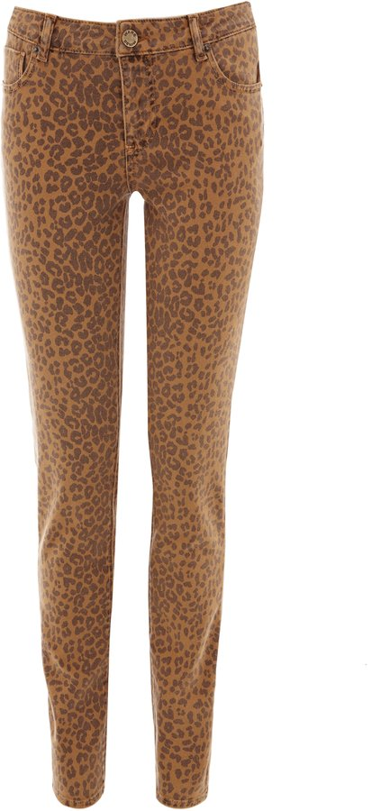 Animal print ultra skinny