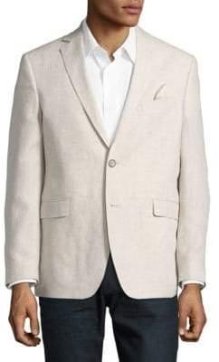 Black & Brown Black Brown Jack Fit Textured Single Breasted Jacket