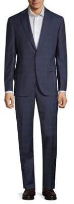 Jack Victor Esprit Windowpane Wool Suit