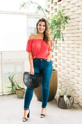 Gibson Natalie Off The Shoulder Puff Sleeve Tee