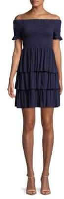 MICHAEL Michael Kors Smocked Multi-Tier Dress