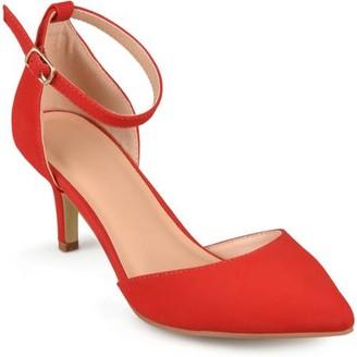 Brinley Co. Womens Ankle Strap Faux Suede Pumps