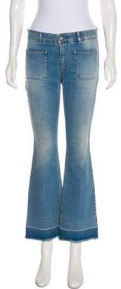 Stella McCartney Distressed Mid-Rise Straight Jeans