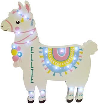 Very Personalised Llama Led Wall Light