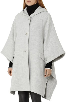 REISS Dita Hooded Cape Coat $545 thestylecure.com