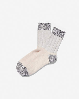 Express Color Block Marled Bootie Socks