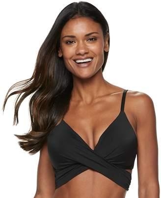 Apt. 9 Women's Bust Enhancer Faux-Wrap Bikini Top
