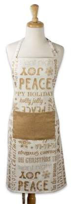 Design Imports Gold Christmas Collage Chef Apron