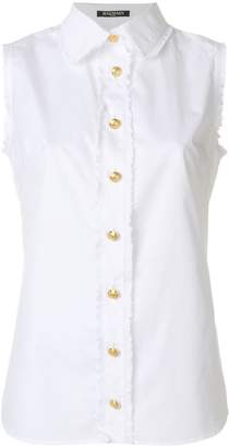 Balmain sleeveless button shirt