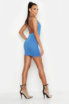 boohoo Extreme Plunge Neckline Bodycon Dress
