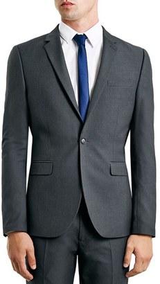 Men's Topman Skinny Fit Grey Suit Jacket $175 thestylecure.com