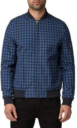 Ben Sherman Checkered Cotton Bomber Jacket