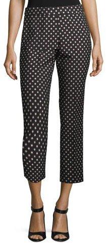 Kate Spade New York Diamond Cigarette Cropped Pants