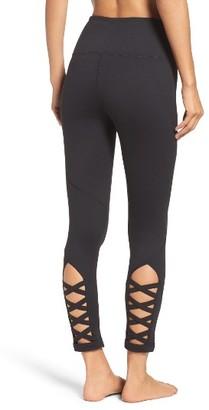 Women's Zella High Waist Lattice Midi Leggings $65 thestylecure.com