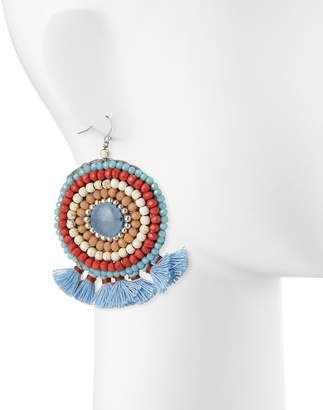 Nakamol Mini Tassel Circle Drop Earrings