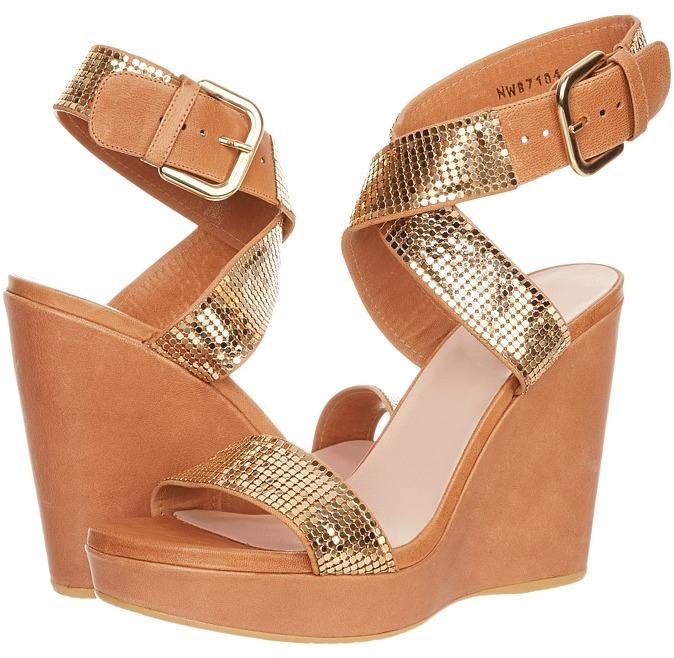 Stuart Weitzman Metalmania (Gold Roman Mail) - Footwear