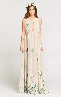Show Me Your Mumu Luna Halter Dress ~ Bouquet Toss
