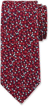 Duchamp Tiny Floral Pattern Silk Tie
