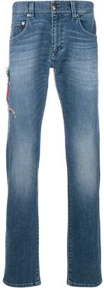Etro stretch straight stonewashed jeans