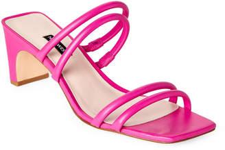 Nine West Pink Nakato Leather Tubular Strap Sandals
