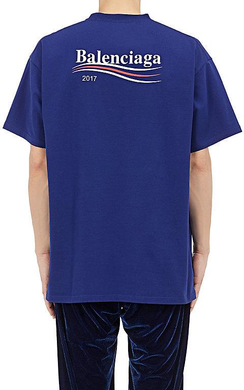 Balenciaga Men's Logo Jersey T-Shirt 2