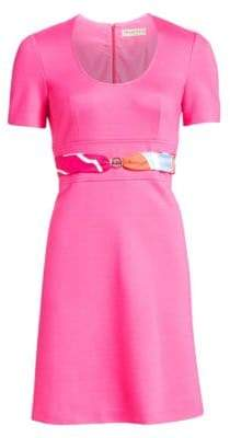 Emilio Pucci Belted A-Line Dress