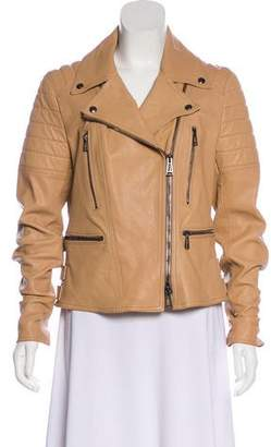 Belstaff Asymmetrical Leather Jacket