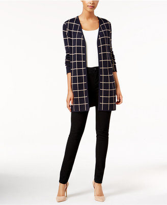 Charter Club Windowpane Open-Front Cardigan, Only at Macy's $89.50 thestylecure.com