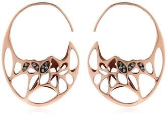 Flowen Goda Rose Gold Plated & Diamond Earrings
