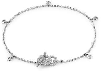 Gucci Jewel Running Gg Bracelet M In Gold And Diamonds