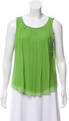 Alice + Olivia Sleeveless Silk Top