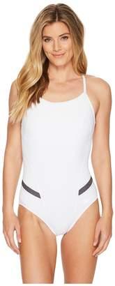 Speedo Precision Pleat Flyback Swimsuit Women's Swimsuits One Piece