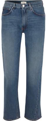 Mid-rise Straight-leg Jeans - Mid denim