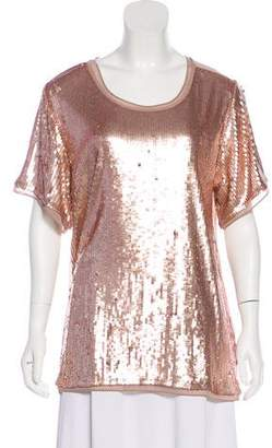 Diane von Furstenberg AS BY Geneva Sequined Top w/ Tags