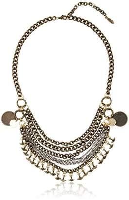 Ettika Bohemian Princess Antique Brass and Gold Chain Necklace