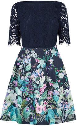 Oasis Lace Top Bloom Skater Dress