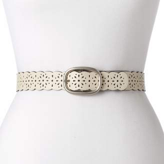 Women's Relic Scalloped & Perforated Reversible Belt