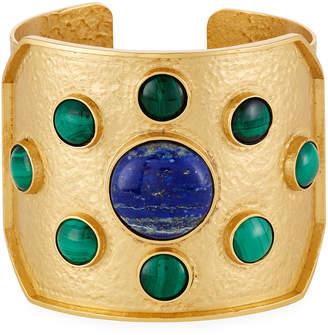 Stephanie Kantis Lapis & Malachite Rejoice Cuff Bracelet