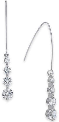 INC International Concepts I.n.c. Silver-Tone Crystal Drop Threader Earrings