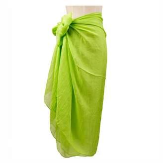 cbe1578705954 RlChic Women's Ladies Beach Wrap Sarong Pareos Bikini Cover up Swimwear  Chiffon Large Shawl Scarf Apple