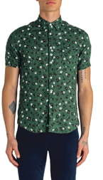 Good Man Brand Slim Fit Aloha Floral Print Linen Shirt