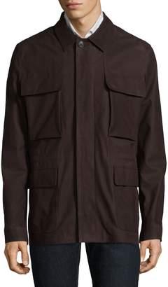 Corneliani Leather Safari Coat