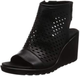 Ecco Shoes Women's Freja-Peep Toe Heel Wedges