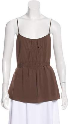 Theory Ruched-Accented Sleeveless Top