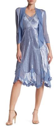 KOMAROV Crinkled Dress & Cascade Jacket 2-Piece Set $418 thestylecure.com